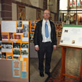 Thurstan with exhibition of St Matthew's history