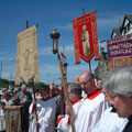 Rogation Sunday 2001 Quayside - servers and banners