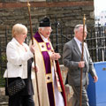 Rogation Sunday 2010 - Fr Duncan with Church Wardens Janet Creer and Percy Higgins