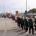 Rogation Sunday 2010 - Douglas Town Band leads procession along North Quay